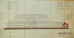Scottish National Exhibition 1908, Winter Garden front elevation plan