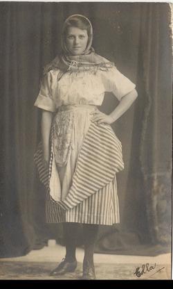 Granny in fishwife's costume