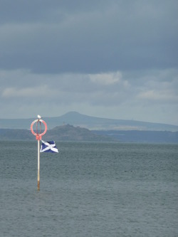 Saltire at Portobello Beach
