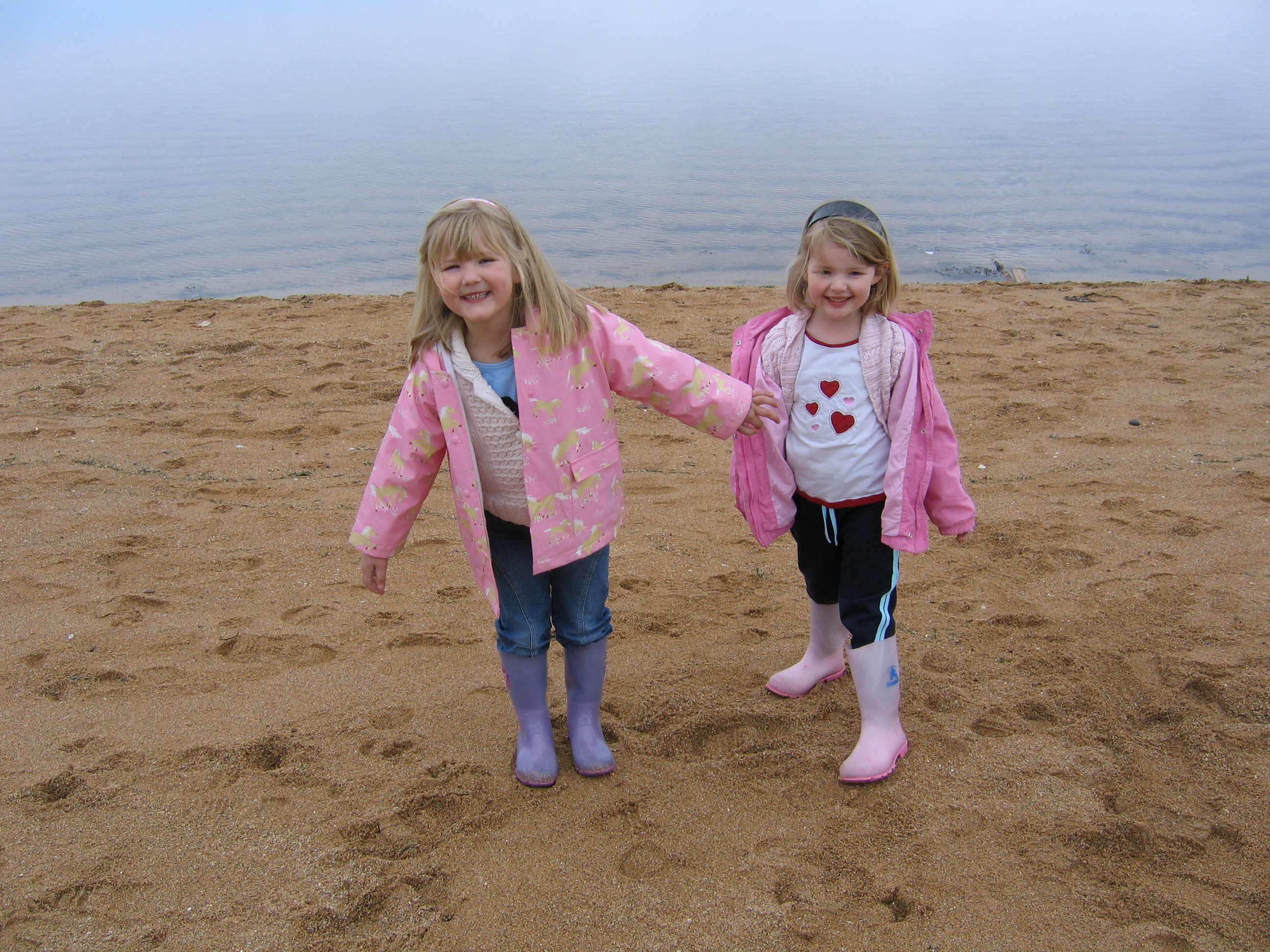 Fun on the beach at Porty