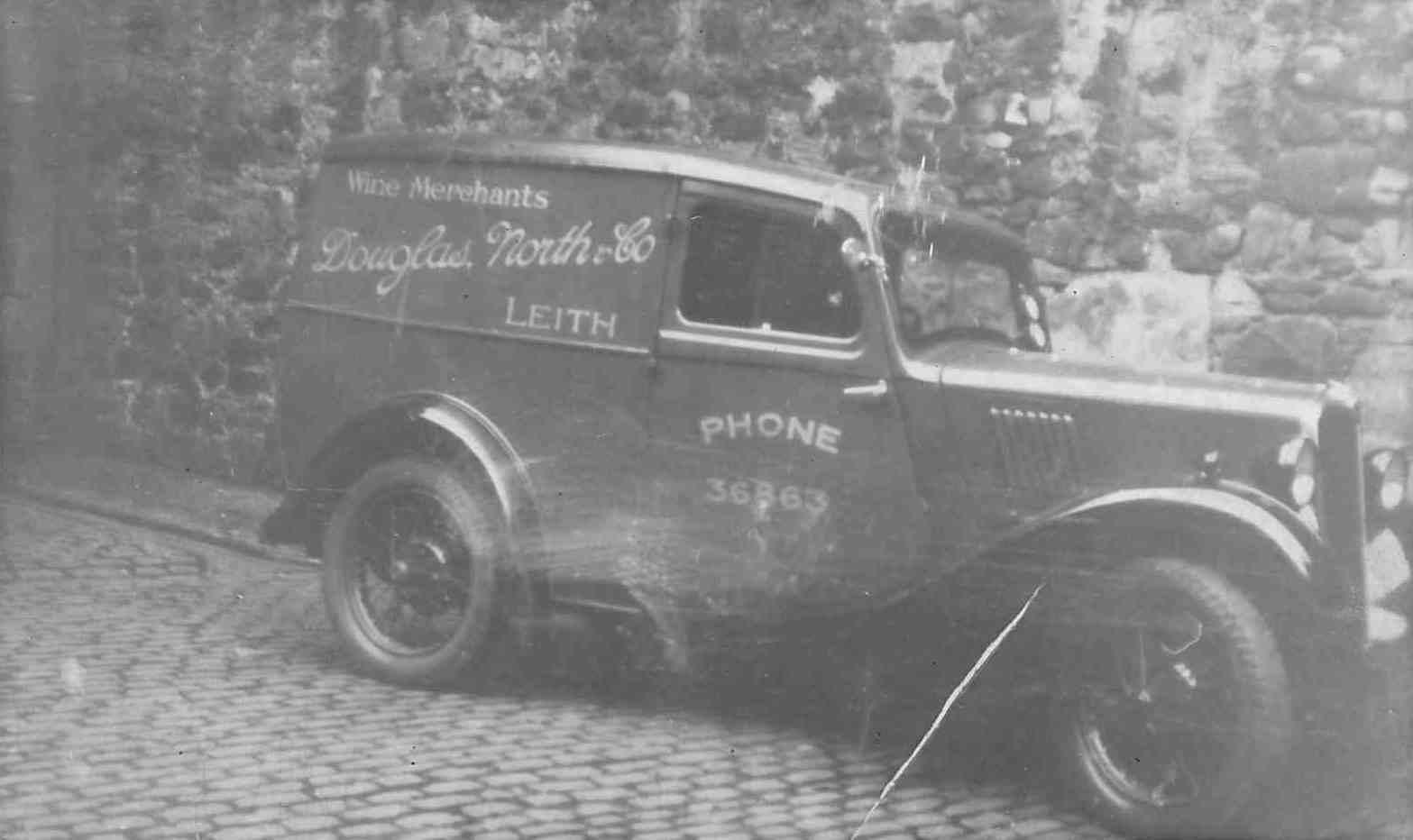 Douglas North & Co, wine merchants van