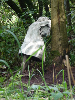 Weeping girl sculpture at Jupiter Artland