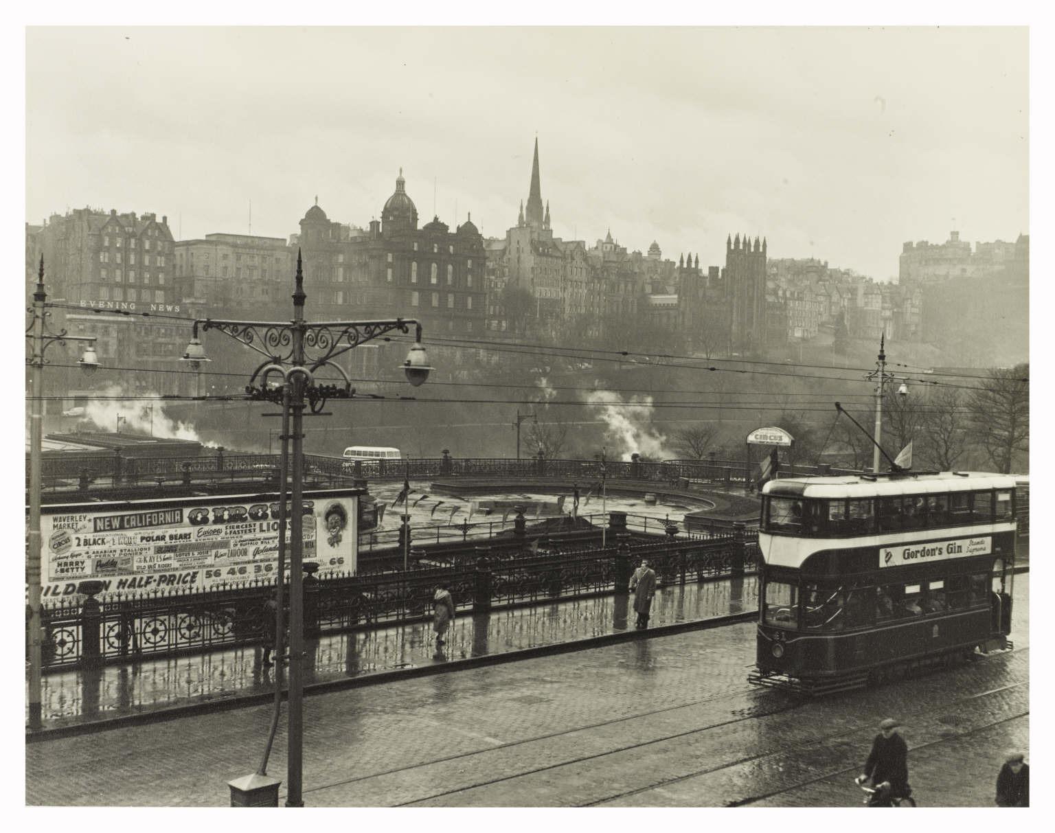 Trams on Princes Street