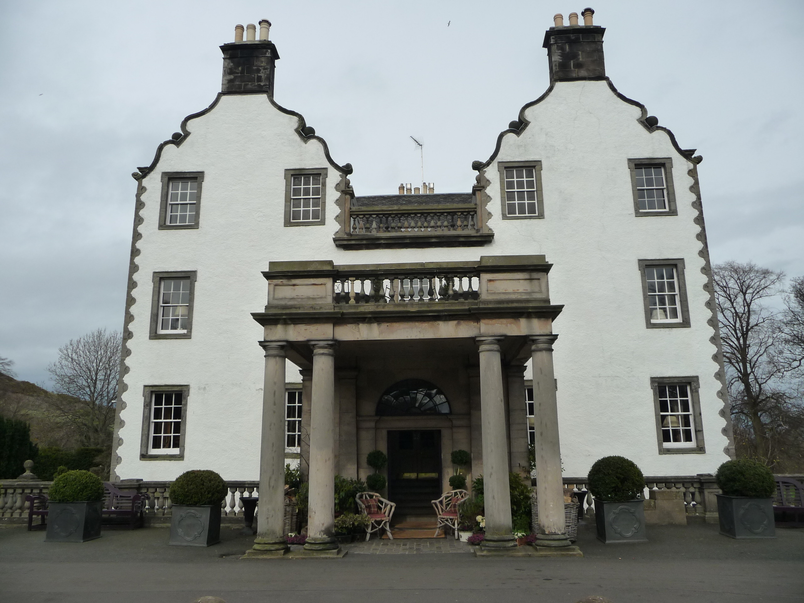 The front of Prestonfield House Hotel
