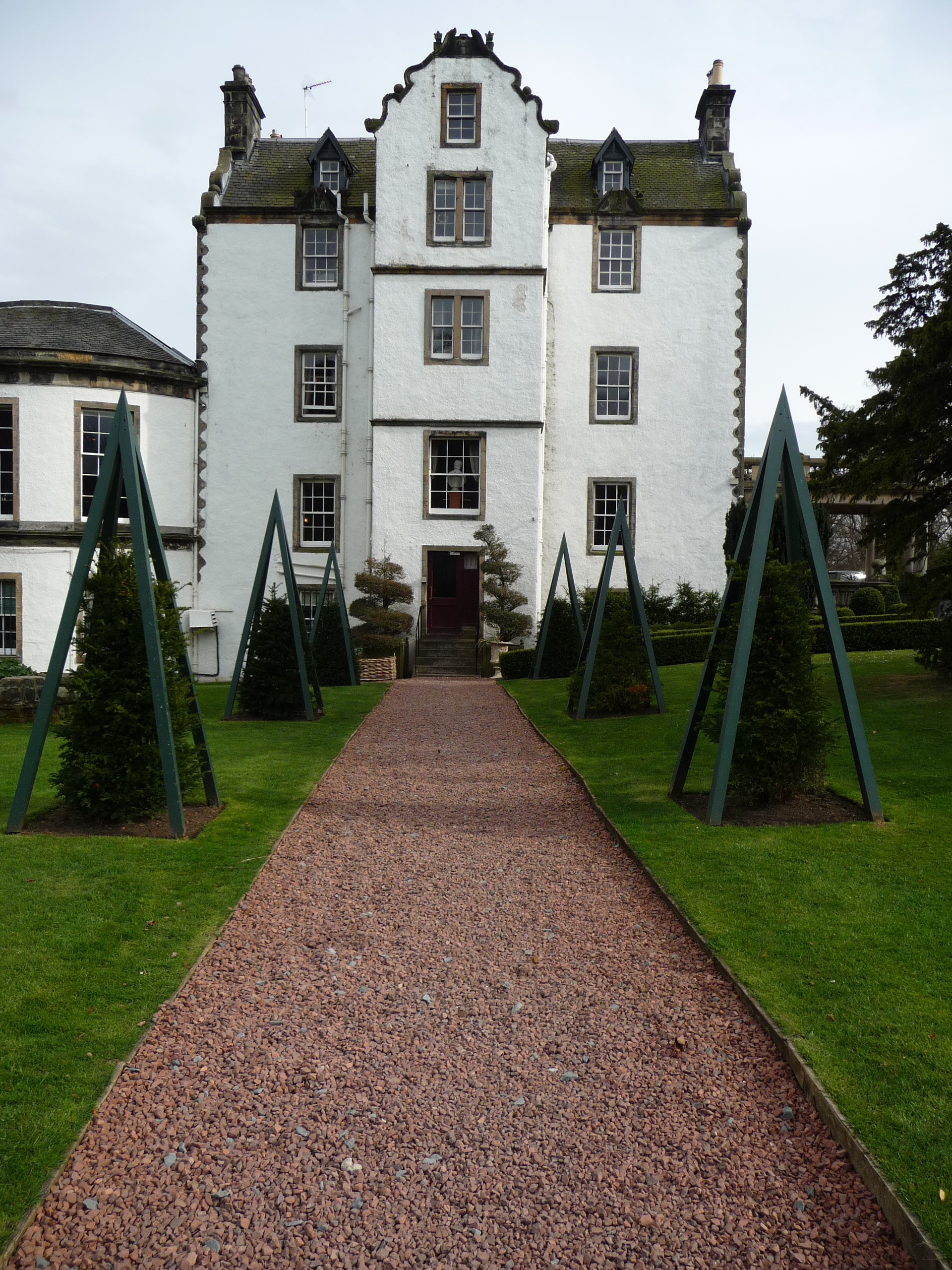 Fancy topiary at Prestonfield House Hotel