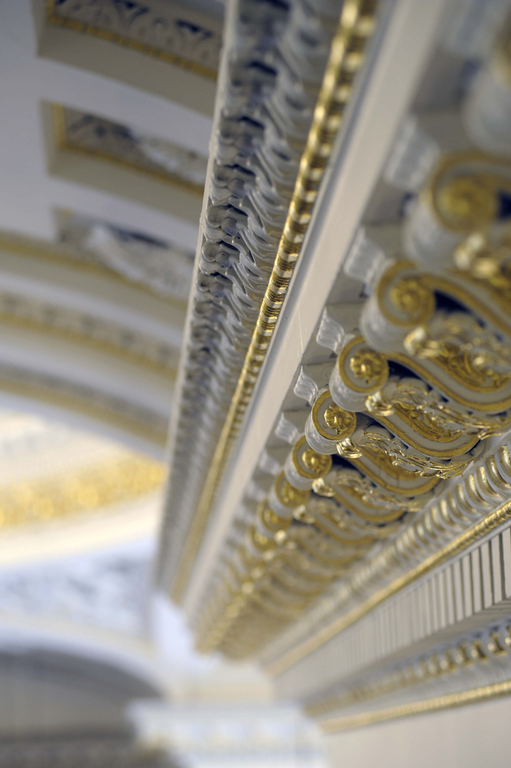 Detail of some very ornate plasterwork