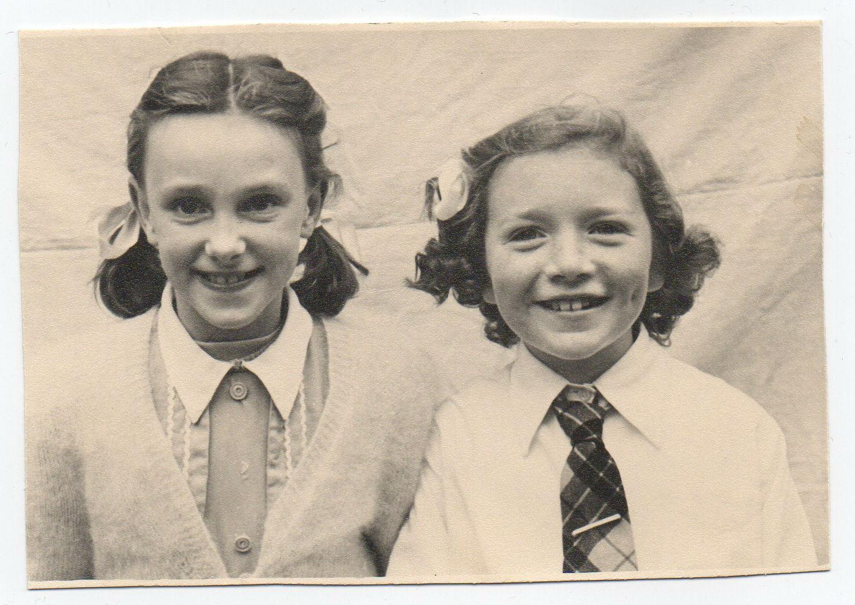 Kathleen Glancy with School friend