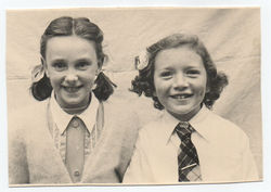 Kathleen Glancy with School friend