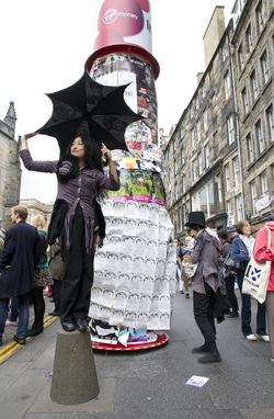 Fringe performer, High Street, Edinburgh Fringe