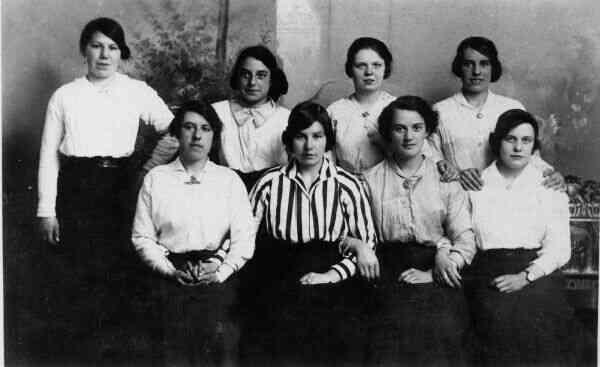 Studio Group Portrait Work Friends c.1916