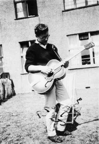 Playing Guitar In The Garden At Pilton Drive 1961