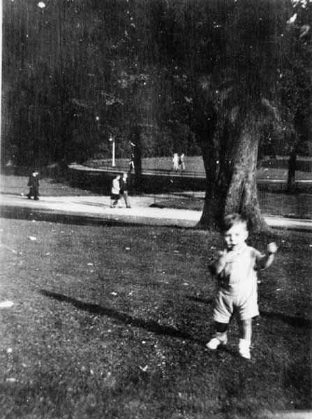 Taking Steps In Princes Street Gardens 1946