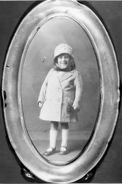 Studio Portrait Young Girl In Outdoor Clothes 1925