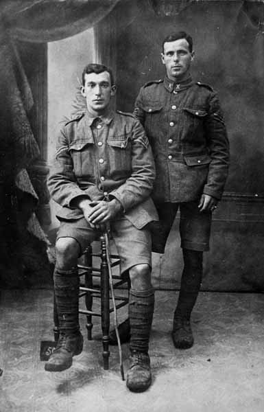 Studio Portrait Two Soldiers 1914-1918