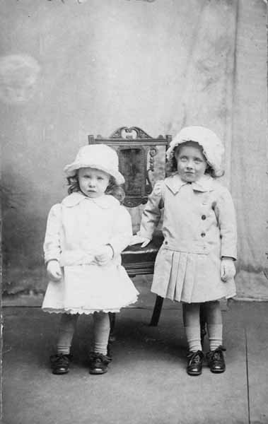 Studio Portrait Two Cousins 1910