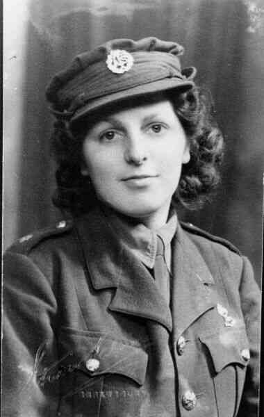 Young Woman In ATS Uniform 1943