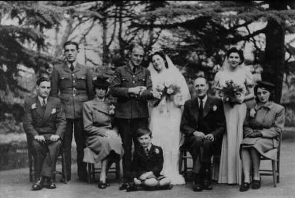 Wartime Wedding RAF Aldershot 10 March 1945