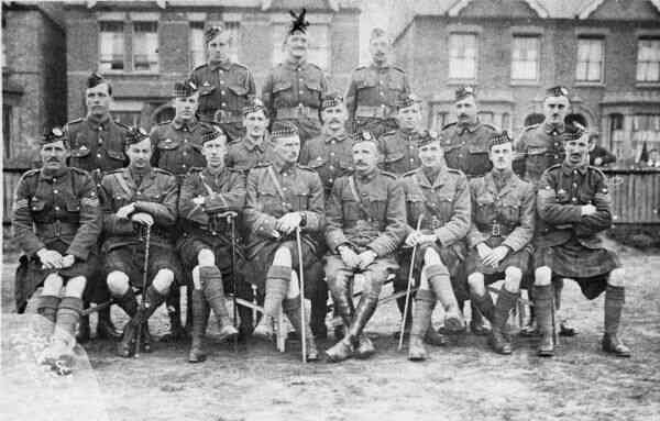 Officers And NCO's Gordon Highlanders c.1912