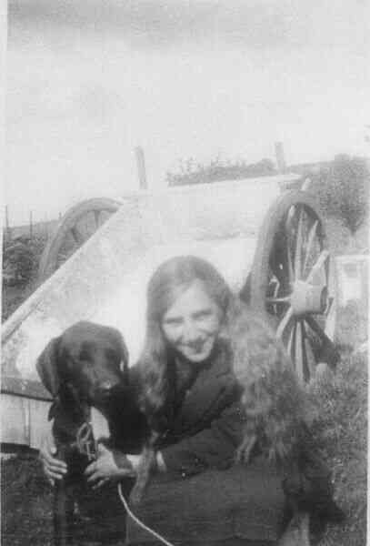 Girl And Her Dog 1925