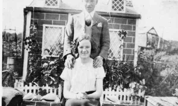 Couple At Their Warriston Allotment 1930s