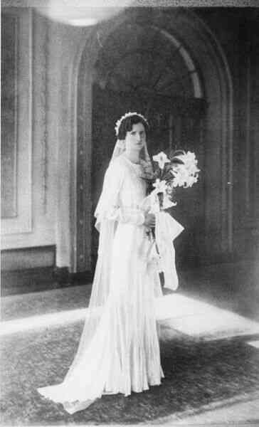 The Bride On Her Wedding Day 1936