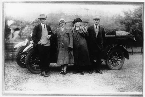 Posing By The Car, late 1920s