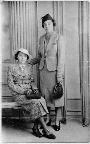 Studio Portrait Two Sisters, late 1930s