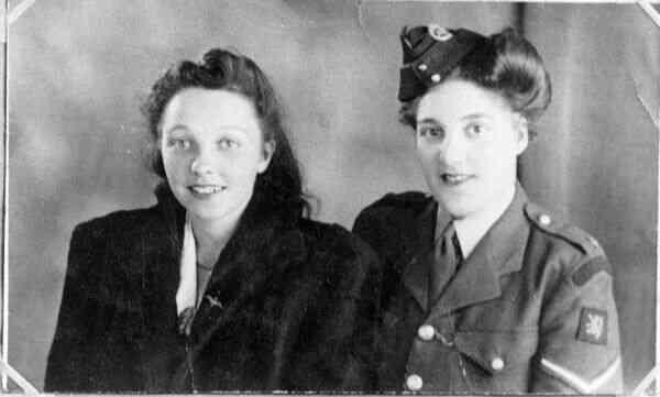 Studio Portrait Two Friends, early 1940s