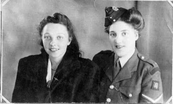 Studio Portrait Two Friends, early 1940s