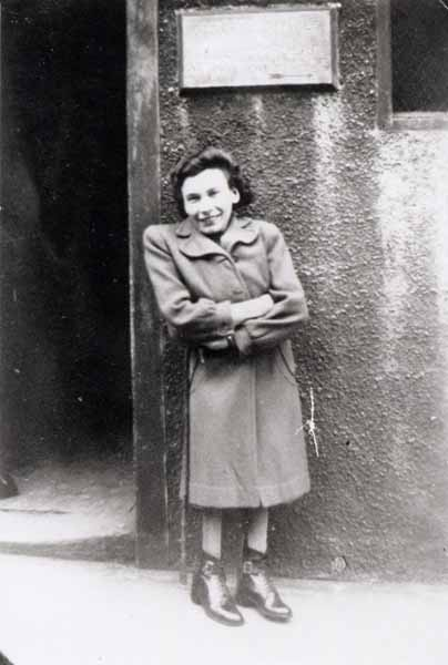 Woman Standing Outside The Work Office 1950