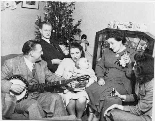 Family Christmas, early 1950s