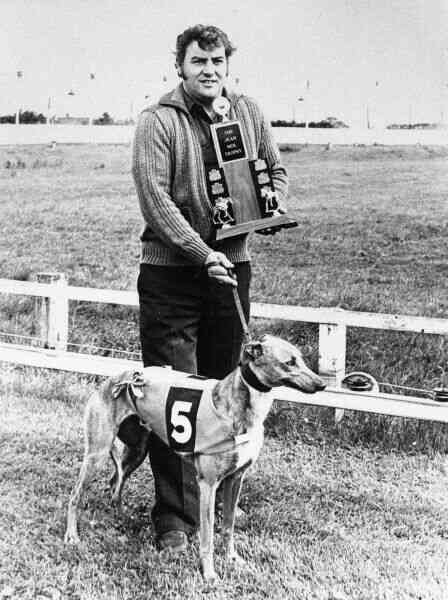 Prize-Winning Greyhound And Owner, early 1970s
