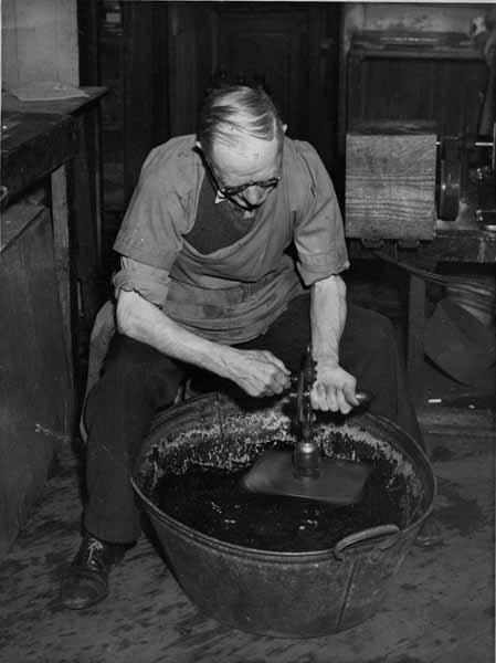Inking A Printing Block 1950s