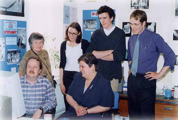 Jackie Baillie Visit To CSV Community History Project 2000