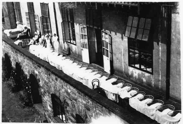 Terrace Of Cribs At Elsie Inglis Maternity Hospital 1938