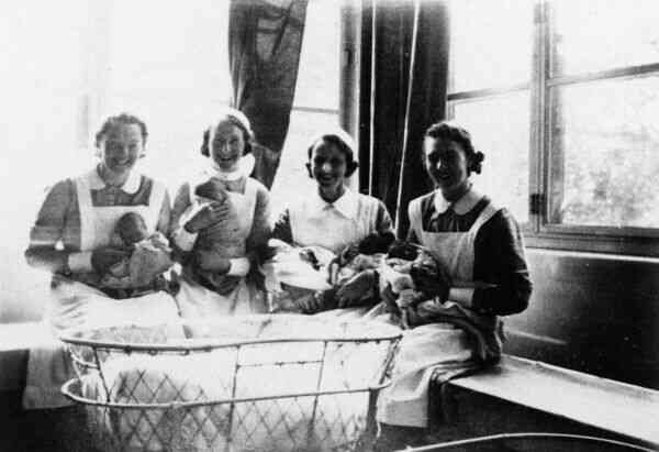 Nurses With Newborns At Elsie Inglis Maternity Hospital c.1938