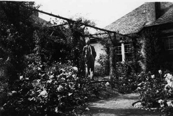 Man Standing In Garden Of Home On Observatory Road 1930s