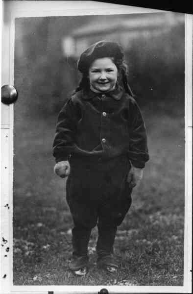 Young Girl Outdoors 1940s