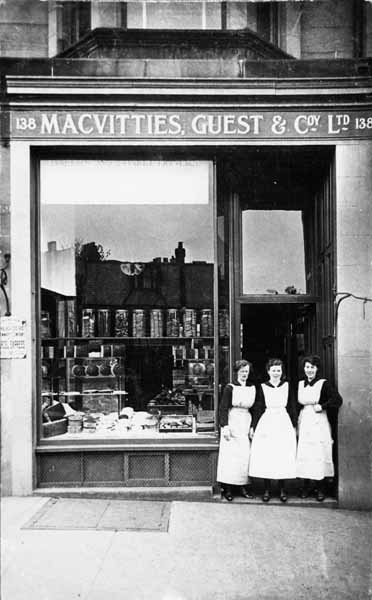 MacVitties, Guest & Company Shop On Comiston Road 1920s