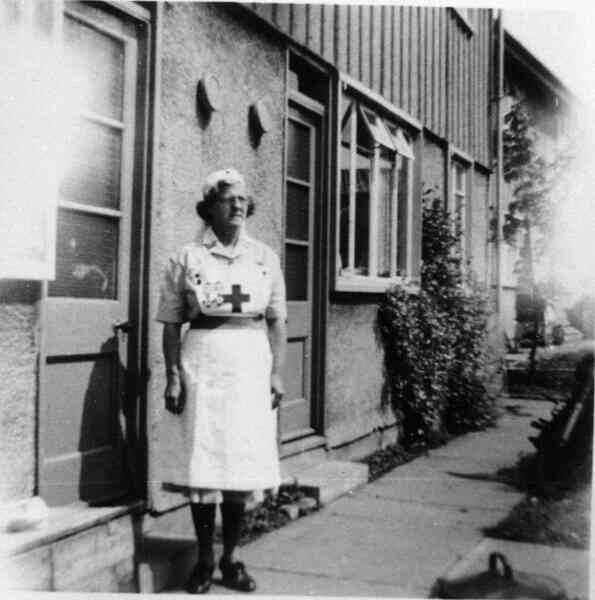 Red Cross Nurse Outside Home At Craigour 1953