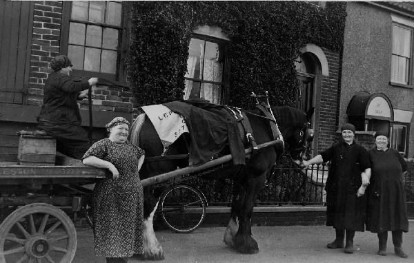 Women With Horse And Cart At Wick 1920s