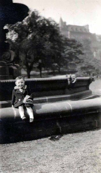 Young Boy At Ross Fountain In Princes Street Gardens 1927