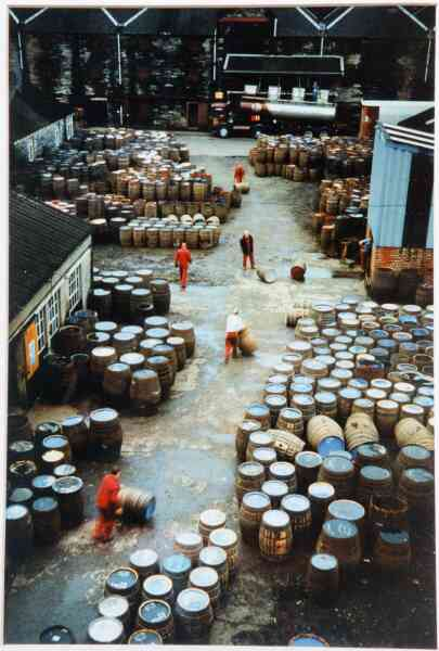 Rolling Barrels In The Distillery Yard 1991