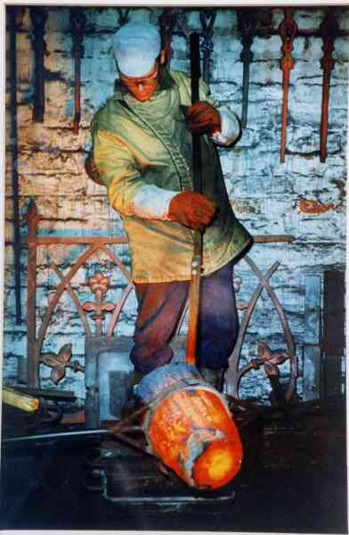 Casting Railings At Laing's Foundry 1993