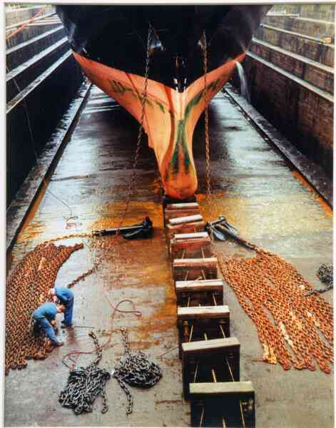 Men Working In Alexandra Dry Dock 1992