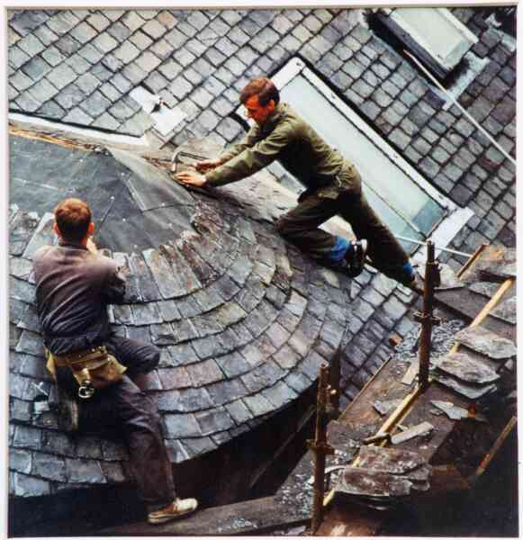 Re-Slating At Thistle Court In The New Town 1993