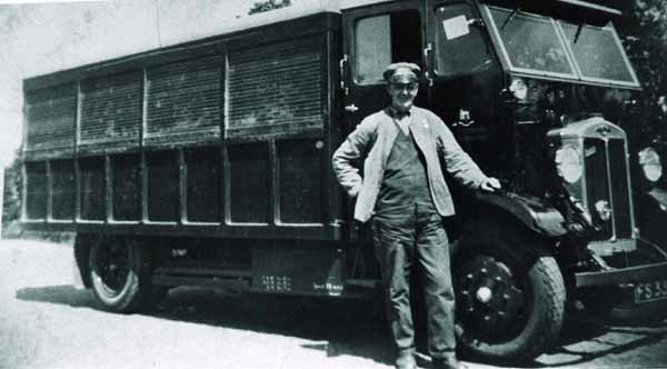 Man Posing By Lorry, late 1930s