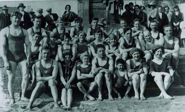 Members Of Swimming Club At Portobello Beach 1922