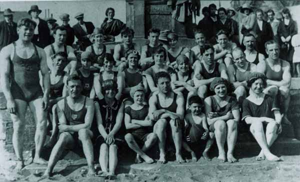 Members Of Swimming Club At Portobello Beach 1922