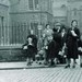 Children Carrying Gas Mask Boxes Outside Dalry School 1939